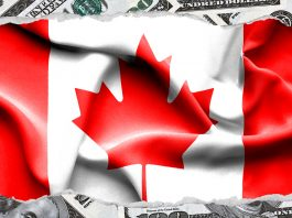 usd-bank-notes-and-canada-flag