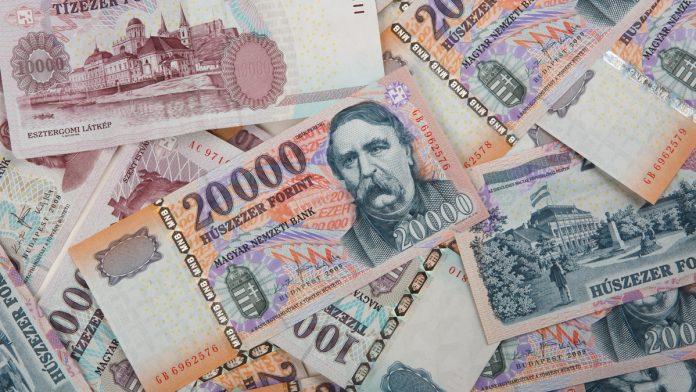 hungarian forint bank notes - HUF
