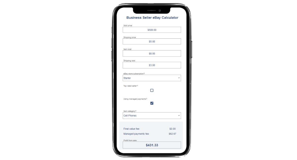 eBay Fees Calculator